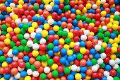 colorful plastic balls in ball pit