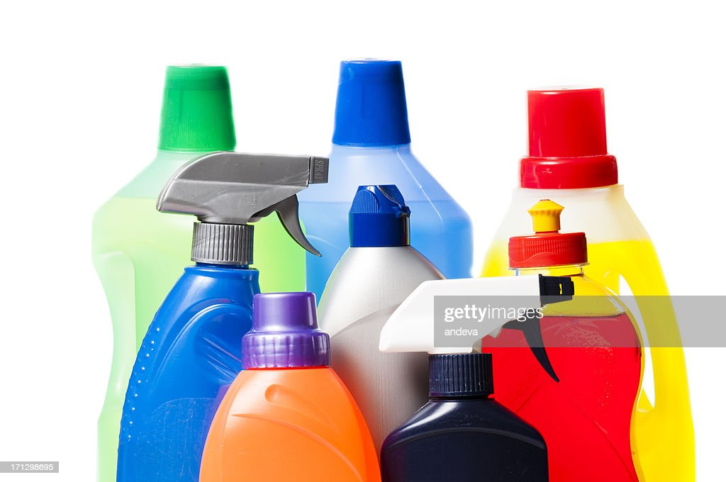 Colorful plastic bottles : Stock Photo