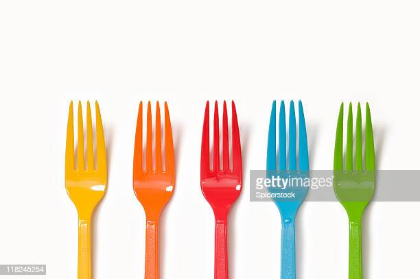 Colorful Plastic Forks