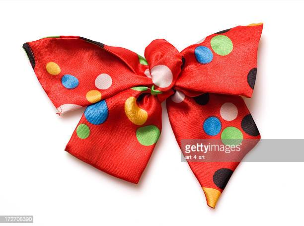 Colorful polka dot bow tie perfect for a carnival