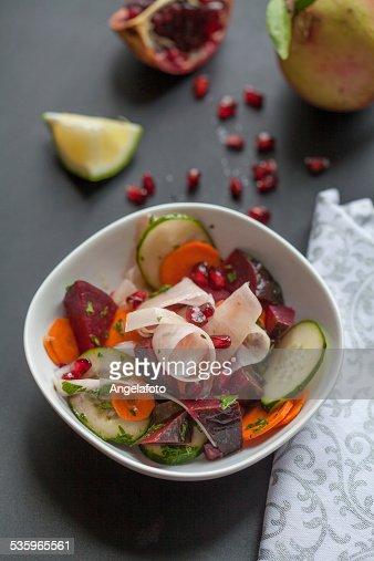 Colorful Pomegranate Salad : Stock Photo