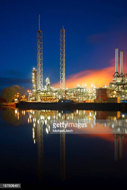 Colorful Refinery At Night