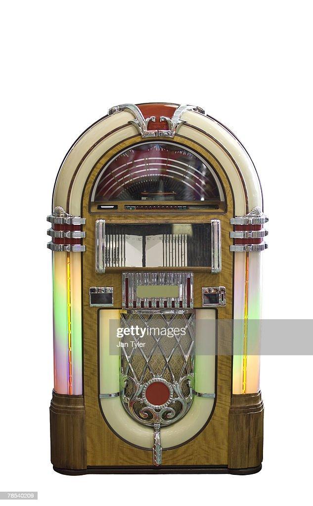 A colorful retro jukebox.