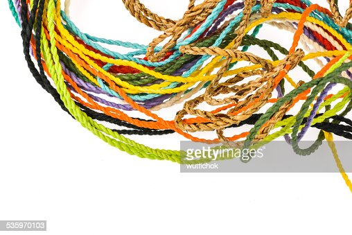 colorful rope  made from mulberry paper : Stock Photo