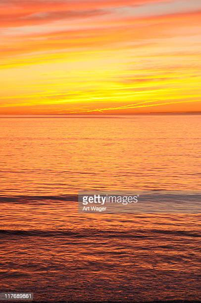 Colorful San Diego Sunset over the Pacific