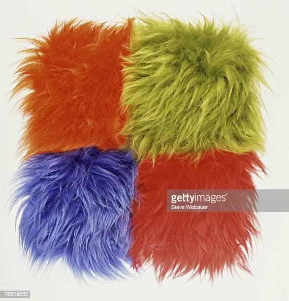 Colorful shag carpet square