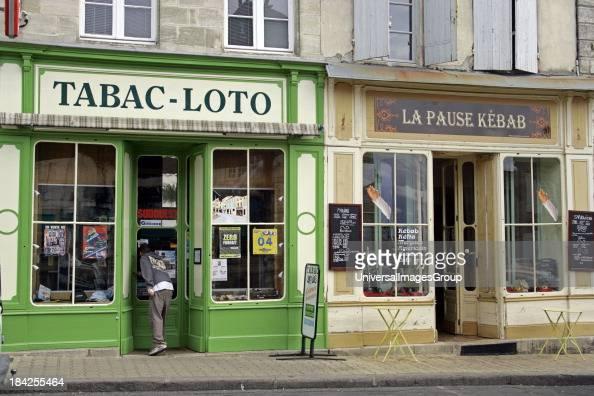 Colorful shop facadesBourg Gironde Bordeaux Atlantic Coast Aquitaine France
