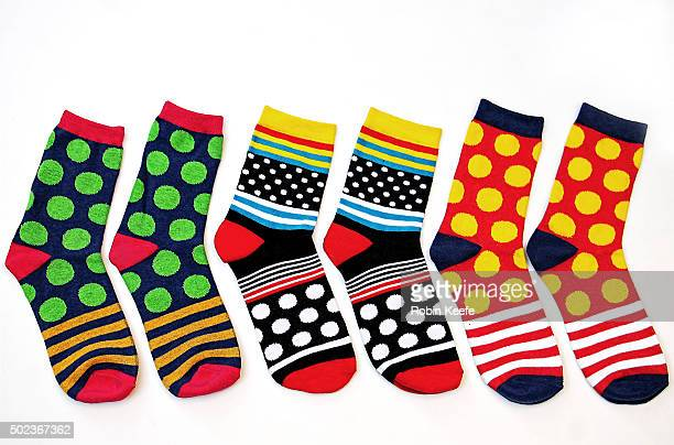 Colorful Socks on White Background