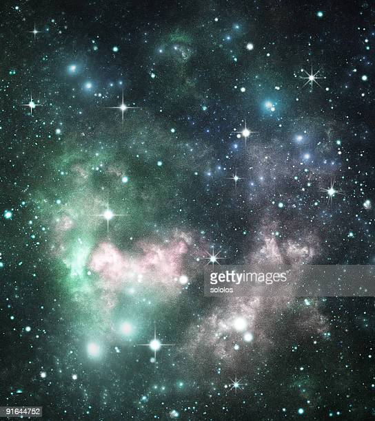 Colorful space Galaxy background image