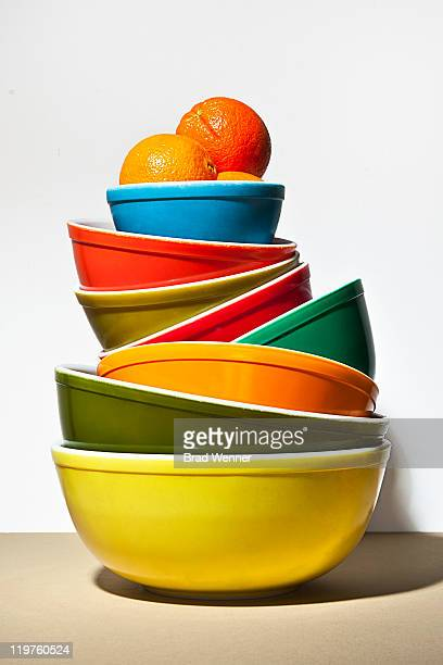 Colorful stack of bowls