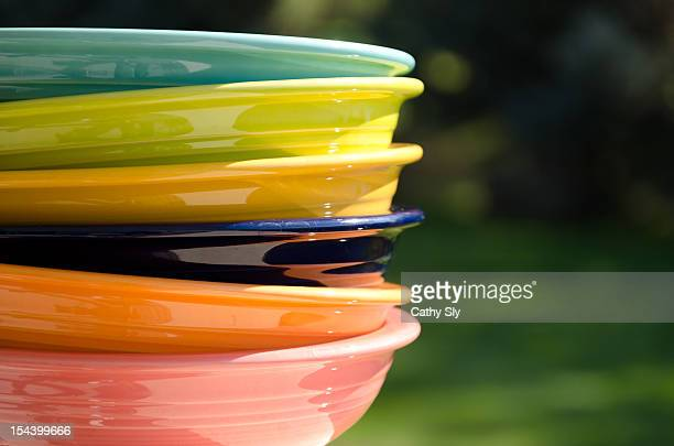 Colorful stacked bowls