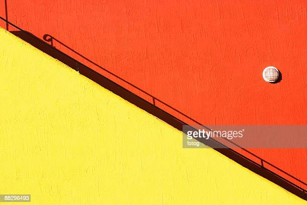 Colorful staircase and building