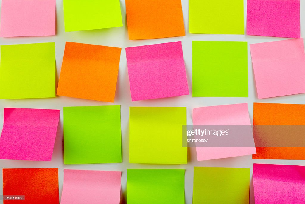 Colorful stickers : Stock Photo