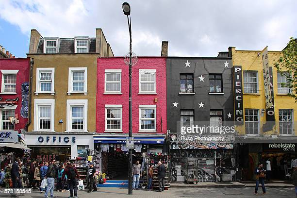 Colorful storefronts and facades in Camden Town