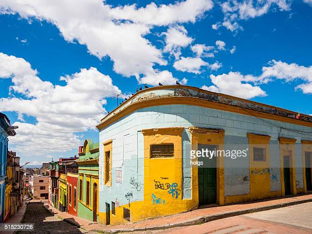 Colorful street in Bogota, Colombia