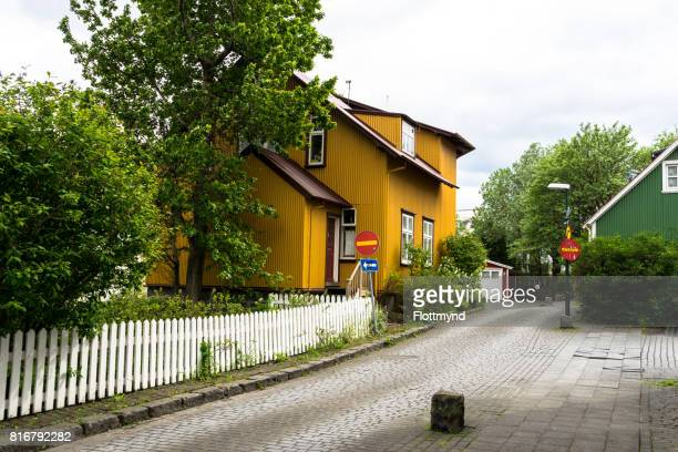 Colorful streets in Reykjavik, Iceland