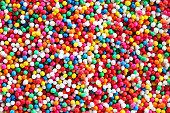 colorful sugar sprinkle background.