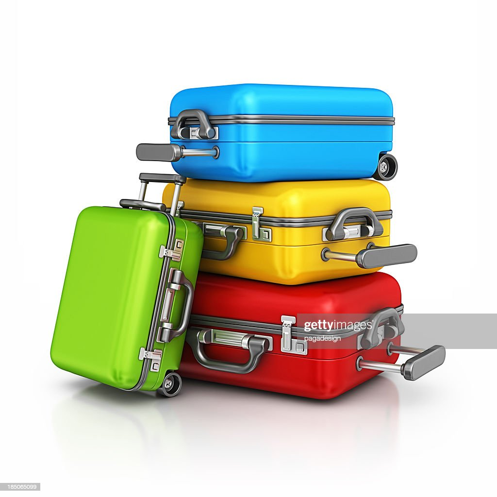 Colorato le valigie : Foto stock