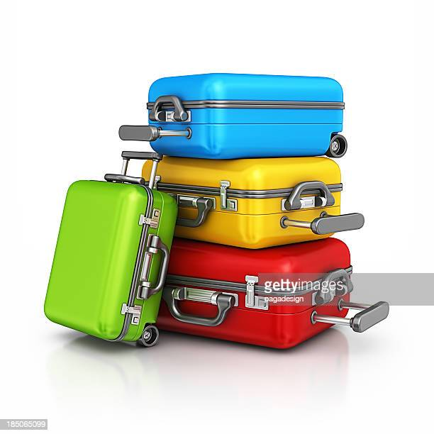 colorful suitcases