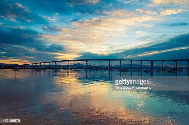 Colorful Sunrise Clouds Over Coronado Bridge
