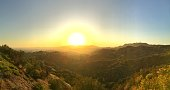 Pretty natural shot right before amazing sunset from Griffith Observatory Road, California.
