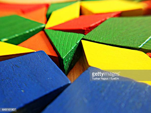 Colorful Tangrams On Table