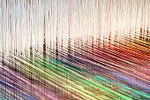 Colorful threads on a loom (XXL)