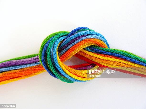 Colorful threads tied in a knot