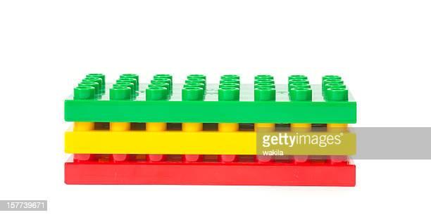 Pilha de cubos de brinquedo colorido