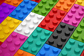 Colorful Toys Piece , This is a 3d rendered computer generated image. Isolated on white.