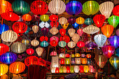 A colorful lantern shop in Old Town of Hoi An, Vietnam.