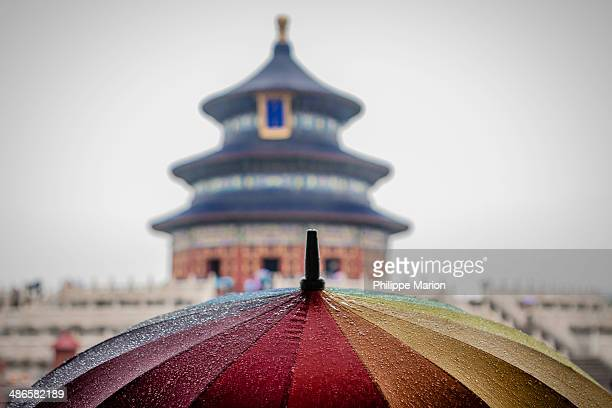 Colorful umbrella at the Temple of Heaven, Beijing