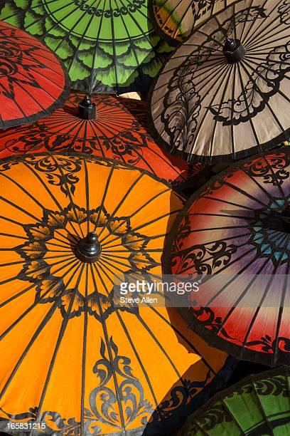 Colorful Umbrellas - Myanmar