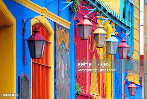 Colorful walls and lamp