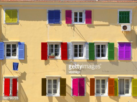 Colorful windows : Stock Photo