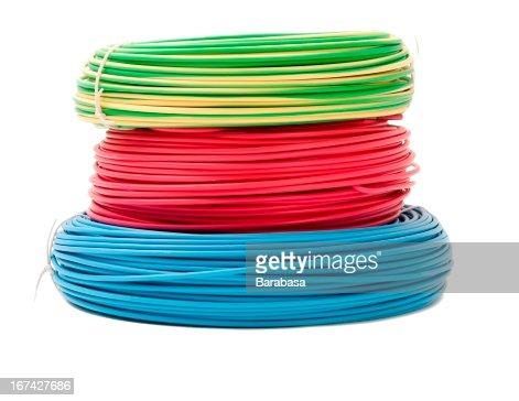 Colorido mazos de cables : Foto de stock