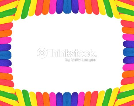 Colorful Wood Icecream Stick For Picture Frame Stock Photo   Thinkstock