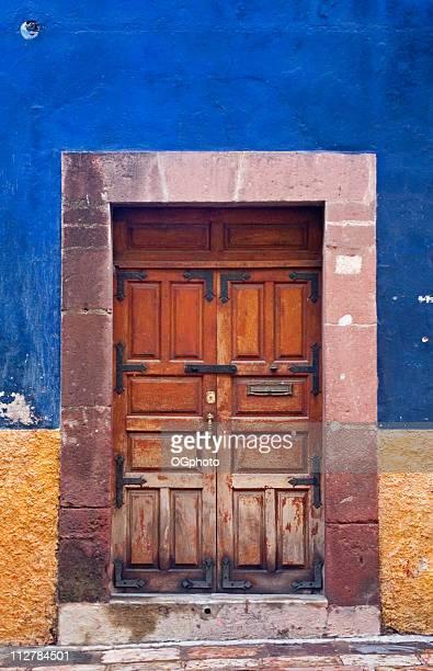 Colorful wooden door