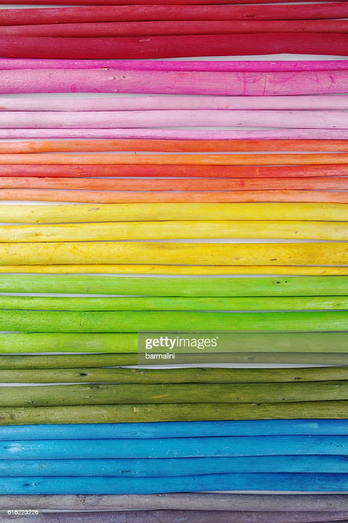 Colorful wooden sticks on white  background : Stockfoto