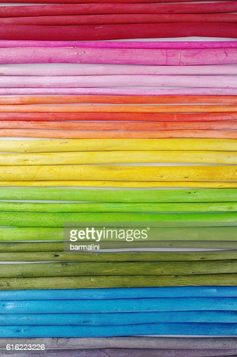 Colorful wooden sticks on white  background : Photo