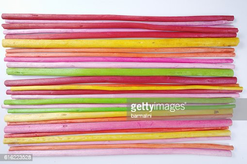 Colorful wooden sticks on white  background : Foto stock