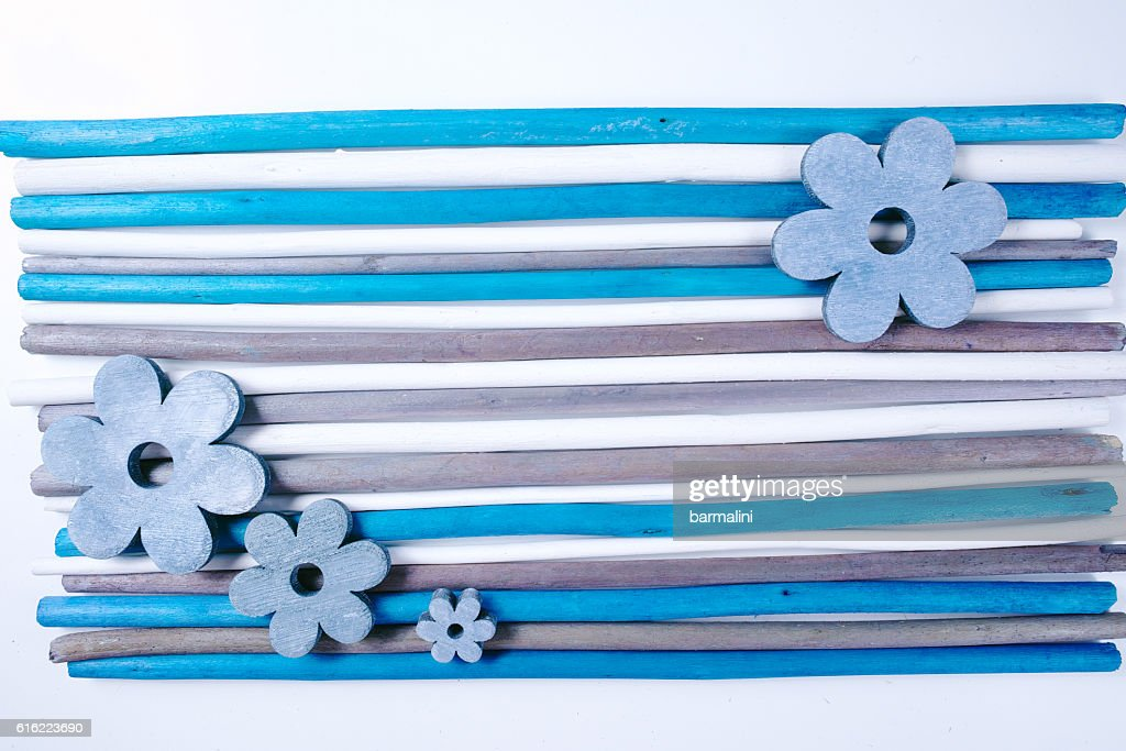 Colorful wooden sticks on white  background : Stock-Foto