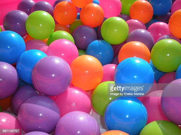 Colorfull pile of plastic balls