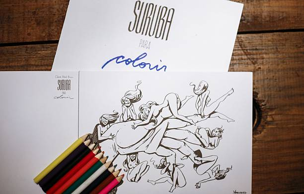 A Coloring Book For Adults Called Suruba Group Sex Sale In