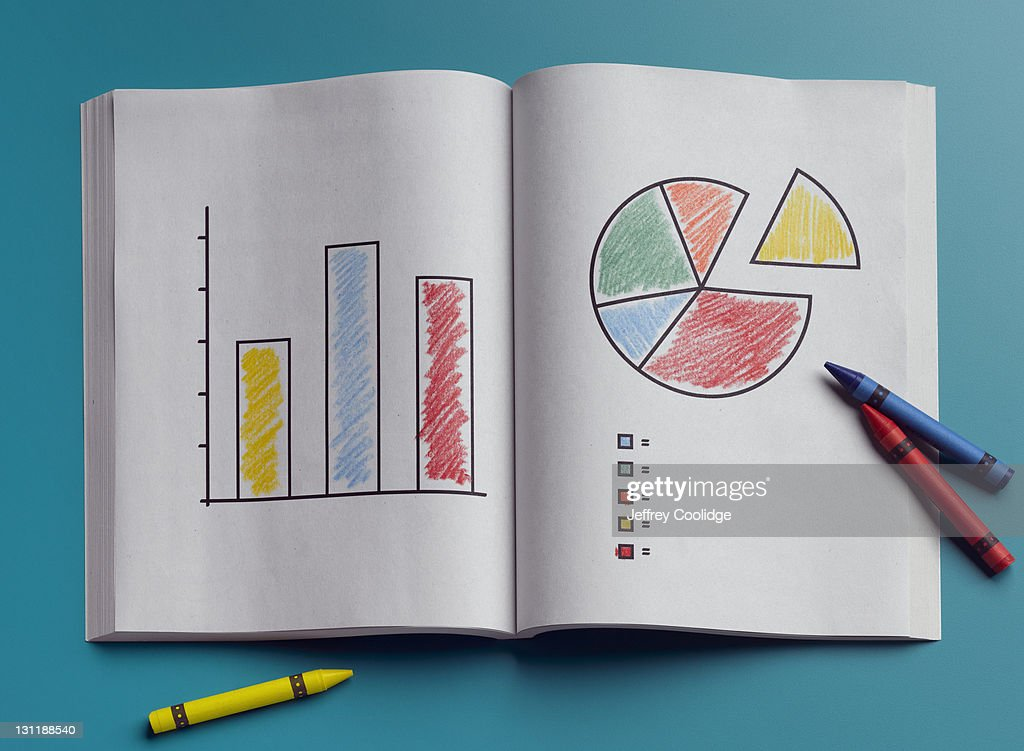 Coloring Book, Graphs : Stock Photo