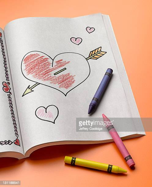 Coloring Book, Heart With Arrow