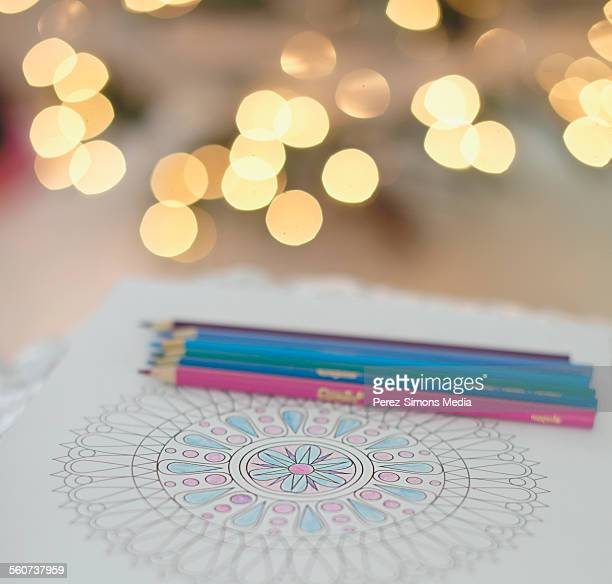 Coloring Mandalas with Coloring Pencils