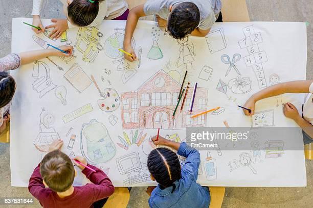 Coloring School Concepts