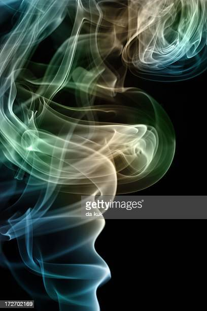Colorised smoke
