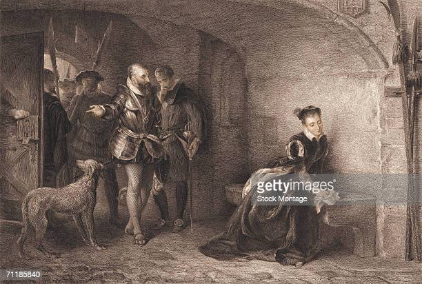 A colorized print shows Princess Elizabeth imprisoned in the Tower of London 1554